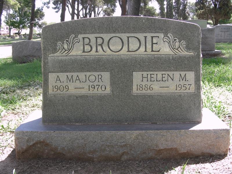Brodie grave marker