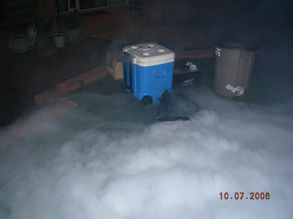 fog machine chiller